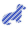 Bavarian longhaired badger vector image vector image