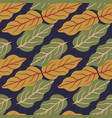 beautiful autumn leaves seamless pattern on blue vector image vector image