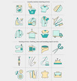 big set of icons - laundry clothing repair vector image
