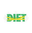 big word diet with measuring tape banner for vector image