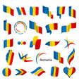 biggest collection of flags of Romania vector image vector image