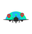 black airplane like global airlines vector image vector image
