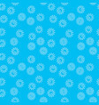 blue bacteria seamless pattern vector image vector image