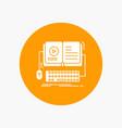 book ebook interactive mobile video white glyph vector image