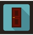 Brown door icon in flat style vector image vector image