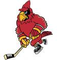 cardinal hockey sports logo mascot vector image vector image