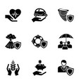 catastrophe icons set simple style vector image vector image