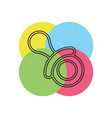 child pacifier icon vector image