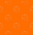 circus tent pattern orange vector image vector image
