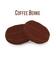 coffee bean robusta roasted seed vector image