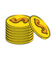 coins currency money stack vector image