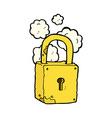 comic cartoon rusty lock vector image vector image