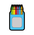 cup with colors pencils icon vector image vector image