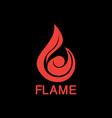 fire tech business logo vector image vector image