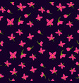 floral textile seamless pattern vector image vector image