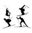 four skiers vector image vector image