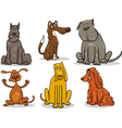 funny dogs set cartoon vector image vector image