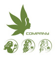 goddess of the earth and cannabis logo vector image