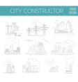 Great city map creator House constructor vector image