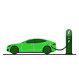 green electric car vector image