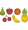Happy Fruits Set vector image vector image