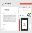 heart and star balloons business letterhead vector image vector image