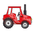 isolted cute shield tractor vector image vector image