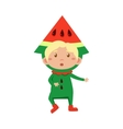 Kid In Watermelon Costume vector image vector image