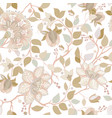 light floral pattern wallpaper with big vector image vector image