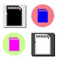 memory card flat icon vector image vector image