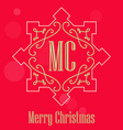 Modern Christmas festive Card monograms style vector image vector image
