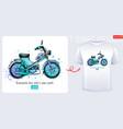 moto bike scooter t-shirt motorcycle print vector image