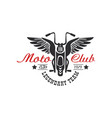 moto club logo legendary team estd 1979 design vector image
