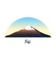mount fuji peaks and landscape early in a vector image