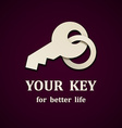 paper key icon design template vector image vector image