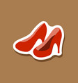 paper sticker fashion footwear women high heel vector image
