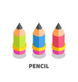 pencil icon symbol vector image vector image
