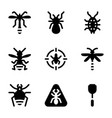 pest and insect control icon pack vector image