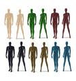 plastic mannequins set vector image