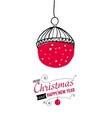 Post card with Christmas doodles vector image vector image