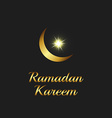Ramadan Kareem background islam symbol golden moon vector image