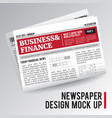 realistic economic newspaper vector image vector image
