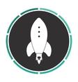 rocket computer symbol vector image vector image
