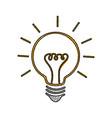 scribble bulb cartoon vector image