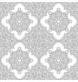 seamless pattern of black and white mandala vector image vector image