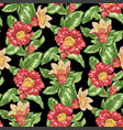seamless pattern with pomegranate blooming vector image vector image