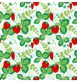 Seamless pattern with strawberries Perfect for vector image vector image