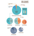 set pie charts infographic vector image