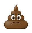 shit icon sad face poop emoticon vector image vector image