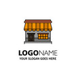 shop online market store building business logo vector image vector image